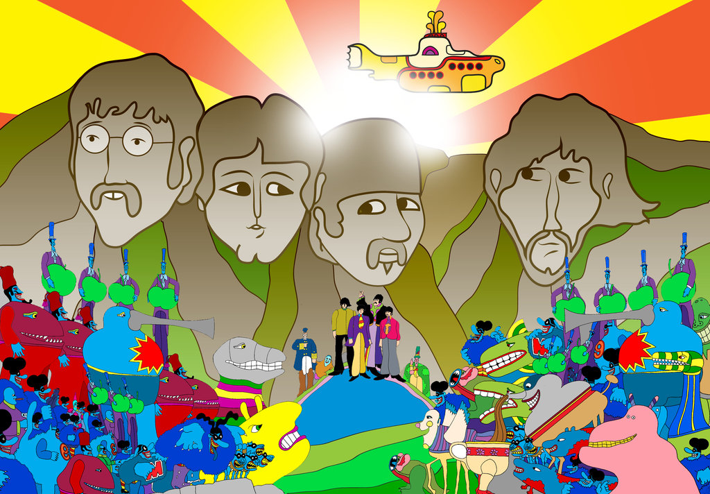 Yellow Submarine   The Beatles by Cryptdidical 1024x712