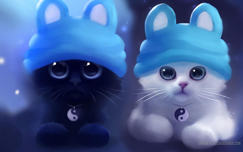 Hd Ying And Yang Cats Wallpaper Screensavers 1440x900 pixel Popular 1440x900