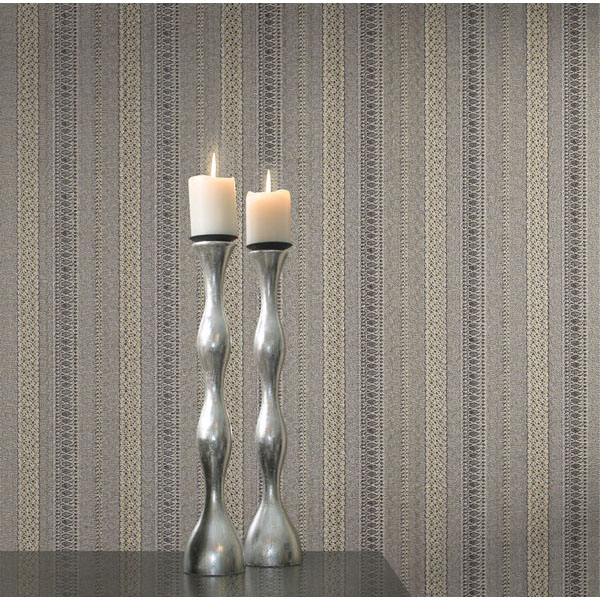 2583 Z3712 Grey Brocade Ribbon   Concetta   Beacon House Wallpaper 600x600