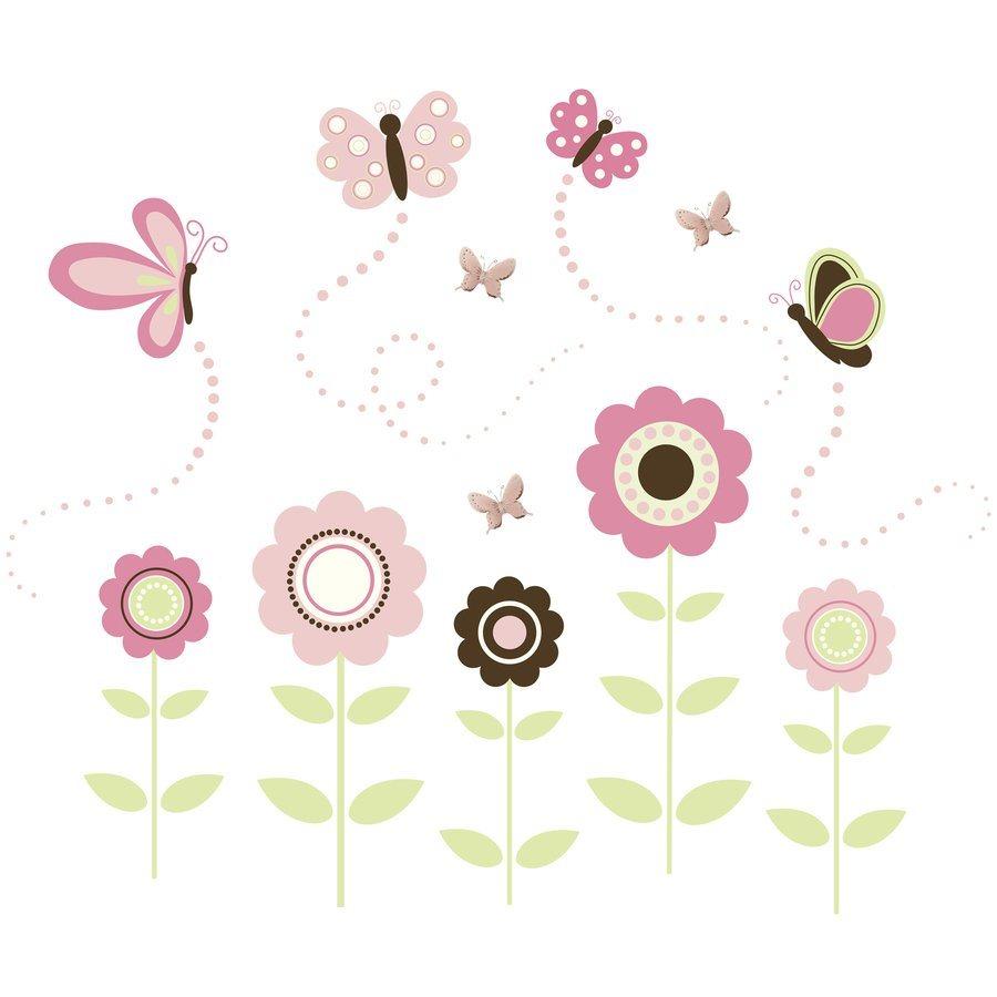 WallPops Peel and Stick Butterfly Garden Wall Art Stickers Kit Lowe 900x900