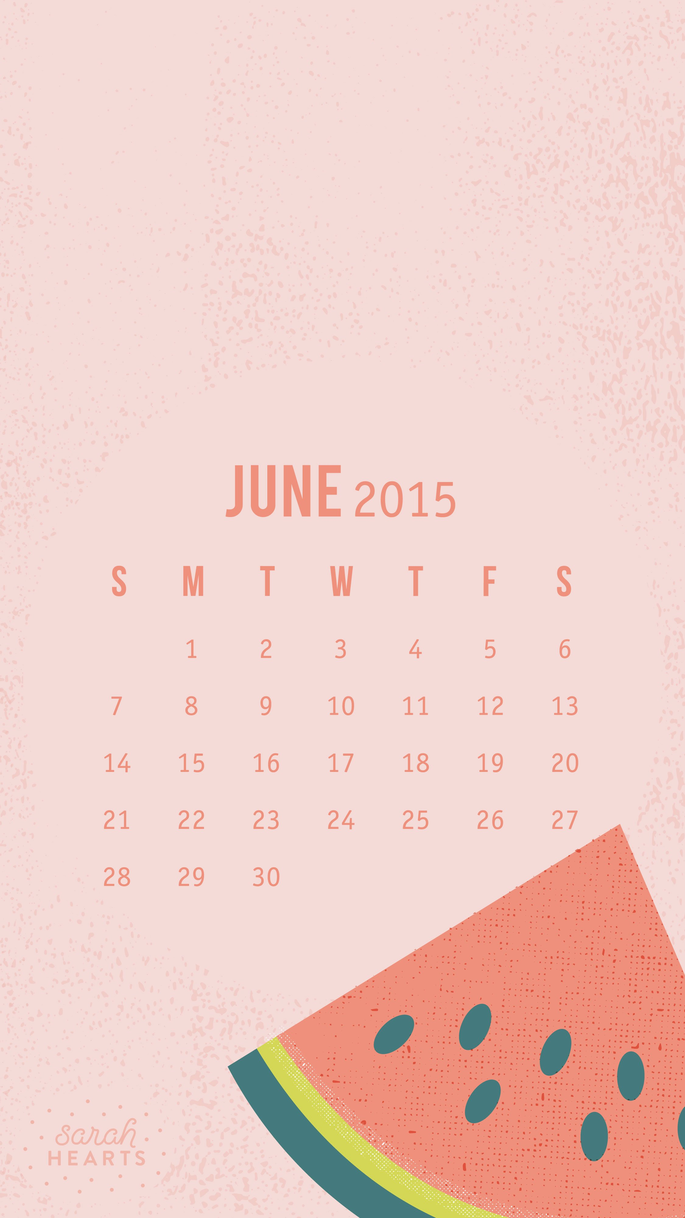 June 2015 Calendar Wallpaper   Sarah Hearts 2250x4000