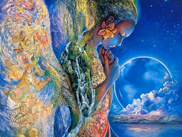 Sadness of Gaia   Mythological Goddess by Josephine Wall Wallpaper 640x480