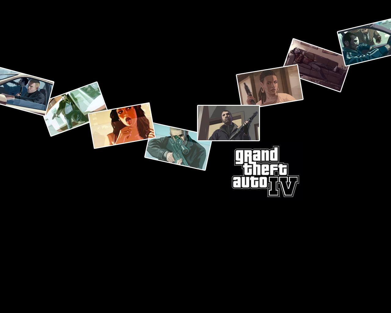 Shots   Grand Theft Auto IV ^ GTA 4 Nico Xbox Artwork 1280x1024