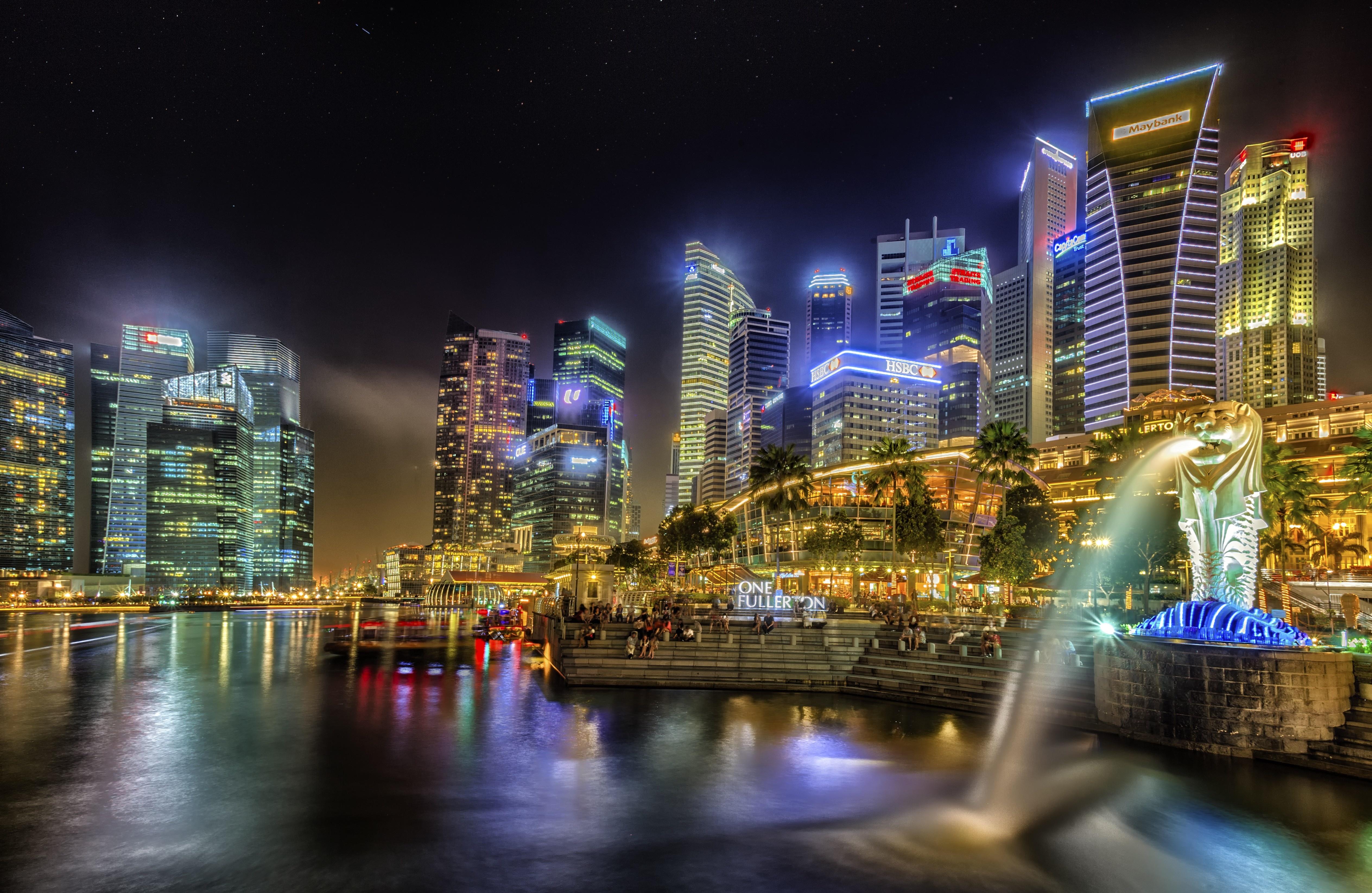 SINGAPORE city lights wallpaper 5055x3292 169624 WallpaperUP 5055x3292