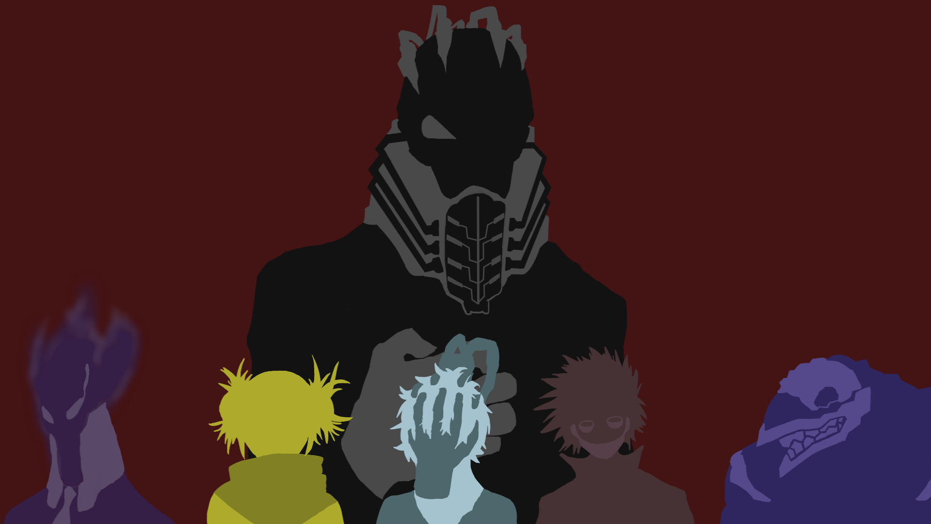Second wallpaper made now with villains BokuNoHeroAcademia 1920x1080