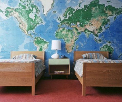 world wallpaper kinda cool boys room Pinterest 500x419