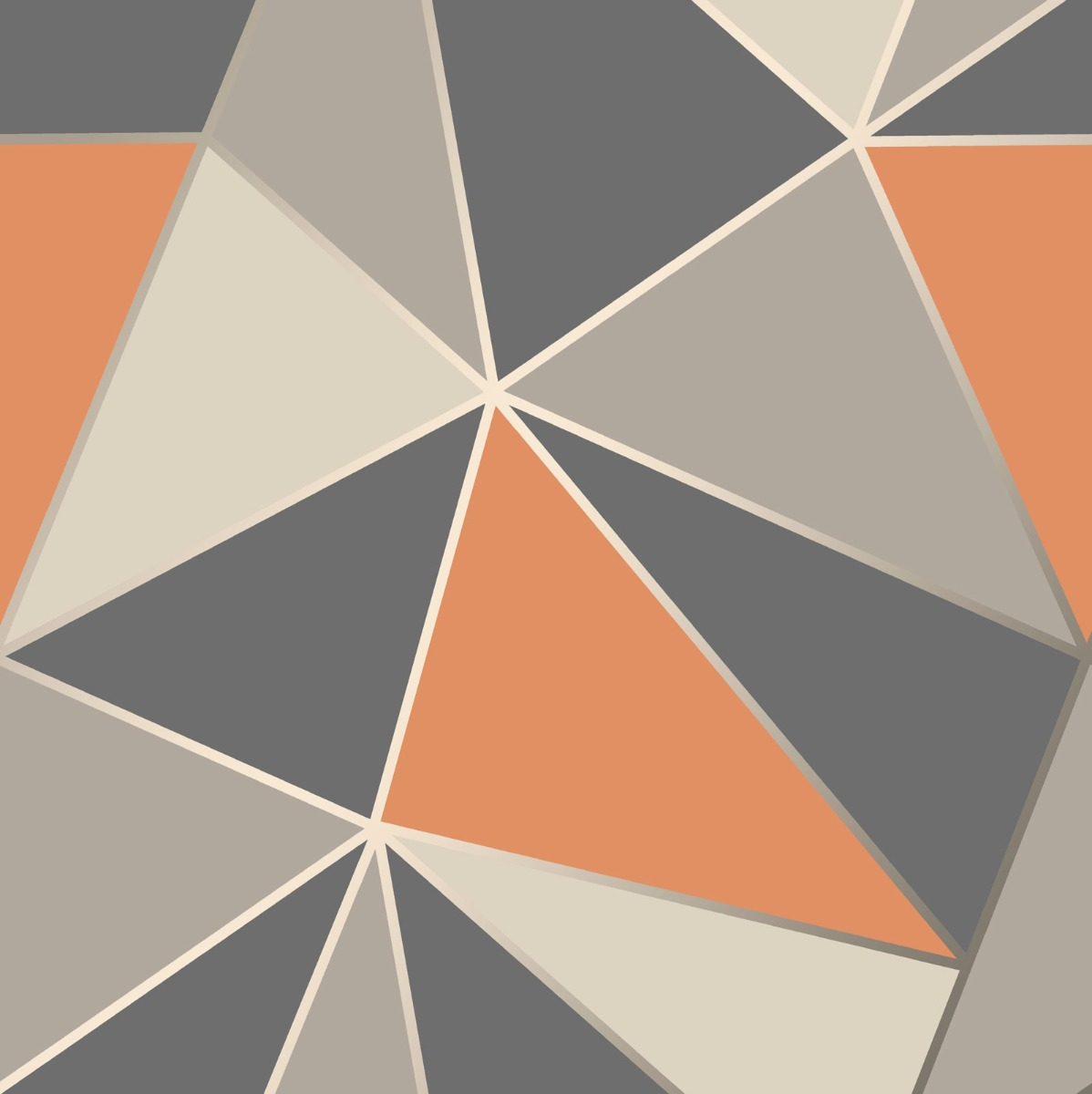 Apex Geometric Wallpaper Burnt Orange and Grey Fine Decor FD42002 1198x1200