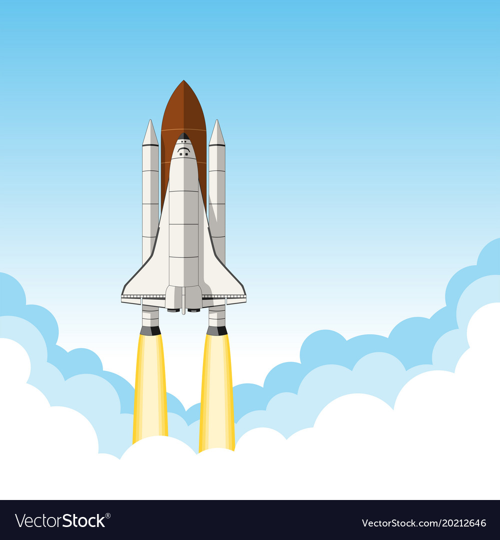 Space shuttle launch background with room for text 1000x1080