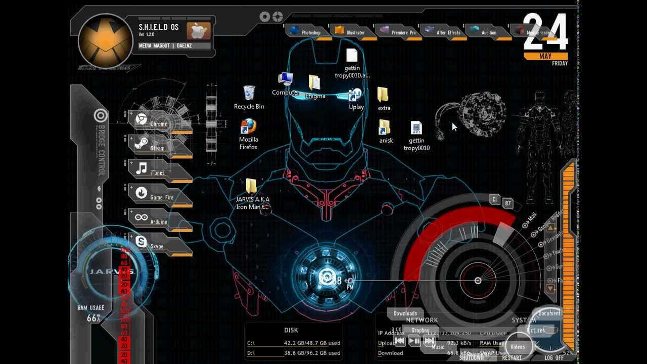 49 jarvis live wallpaper for windows on wallpapersafari - Iron man jarvis background ...