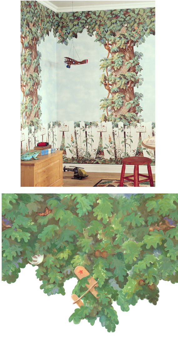 My Clubhouse Treetop Wallpaper Border   Wall Sticker Outlet 570x1076