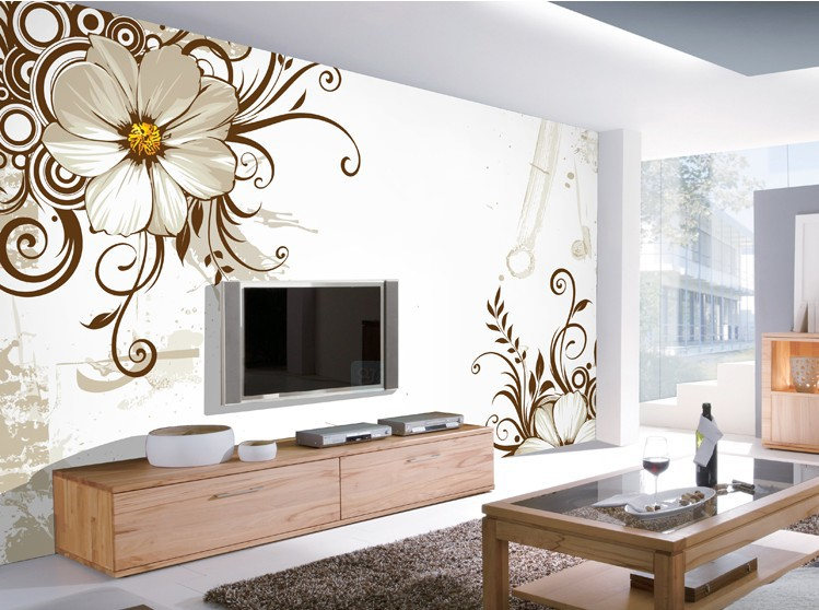 Wallpapers for living room flower printing wall paper 3d wallpaper 3d 749x558