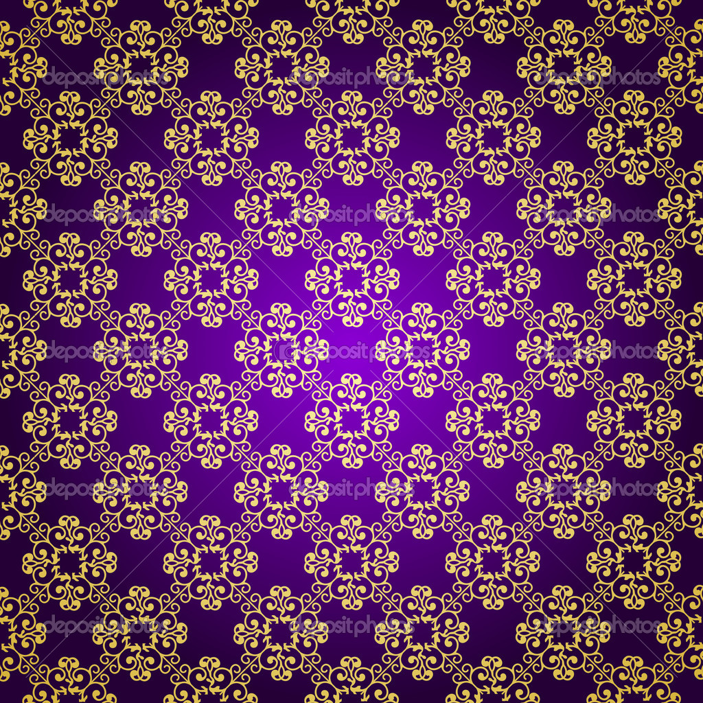 Purple And Gold Wallpaper Wallpapersafari