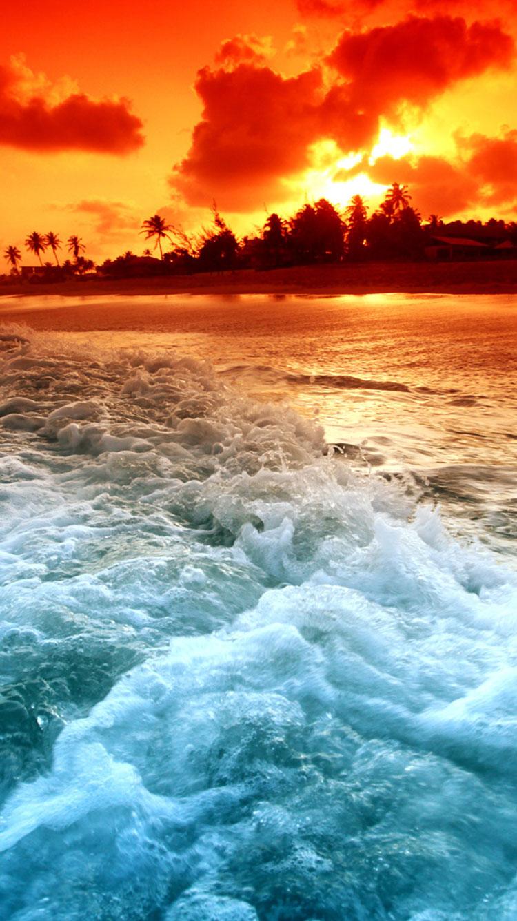 30 HD Tropical Beach iPhone Backgrounds 750x1334
