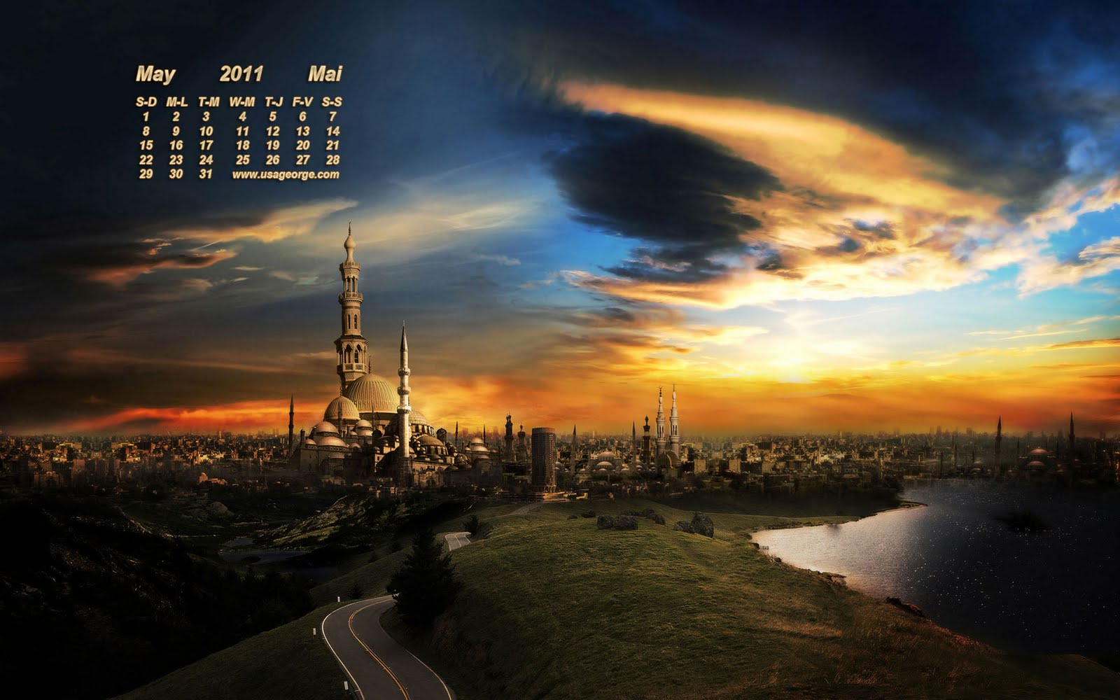 Impress Moment MaY 2011 DeSKToP CaLeNDaR WaLLPaPeRS 1600x1000
