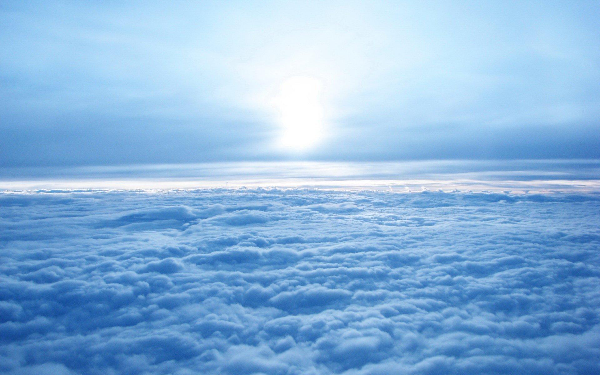 Fluffy clouds wallpaper 37763 1920x1200