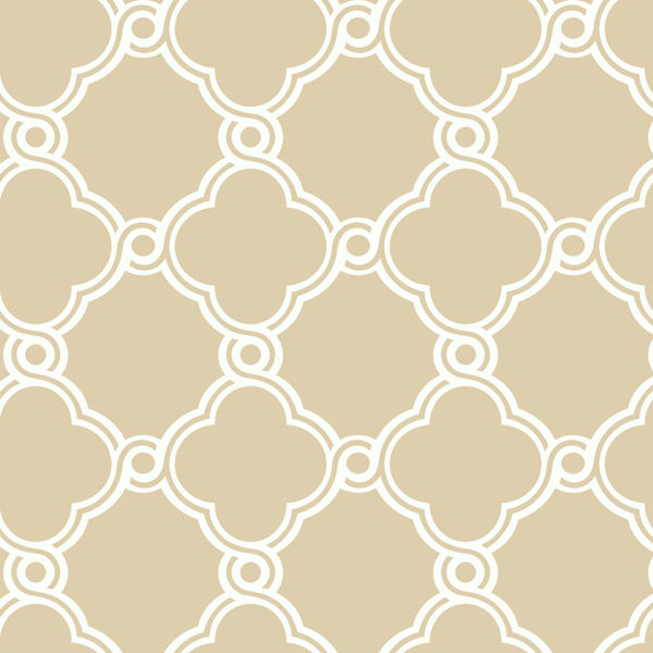 White with Beige Open Trellis Wallpaper   Wall Sticker Outlet 600x600