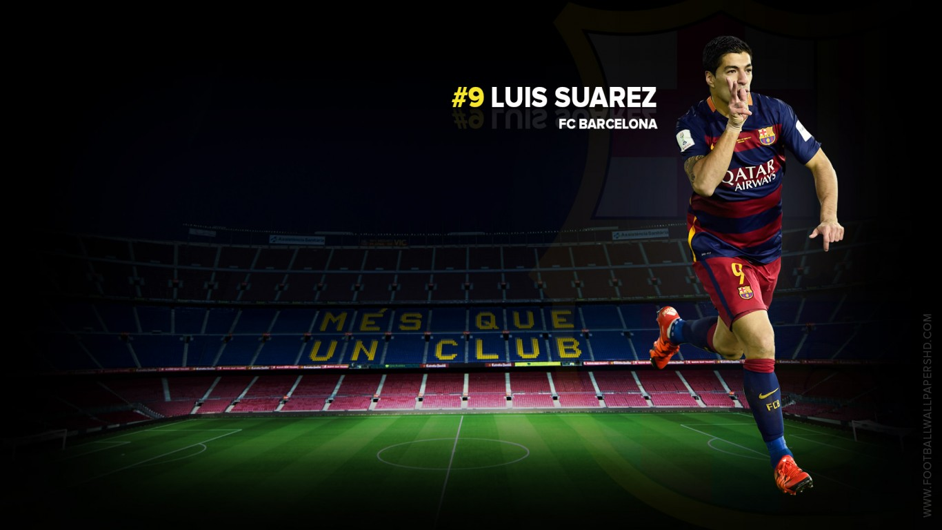 Luis Suarez FC Barcelona Wallpaper   Football Wallpapers HD 1366x768