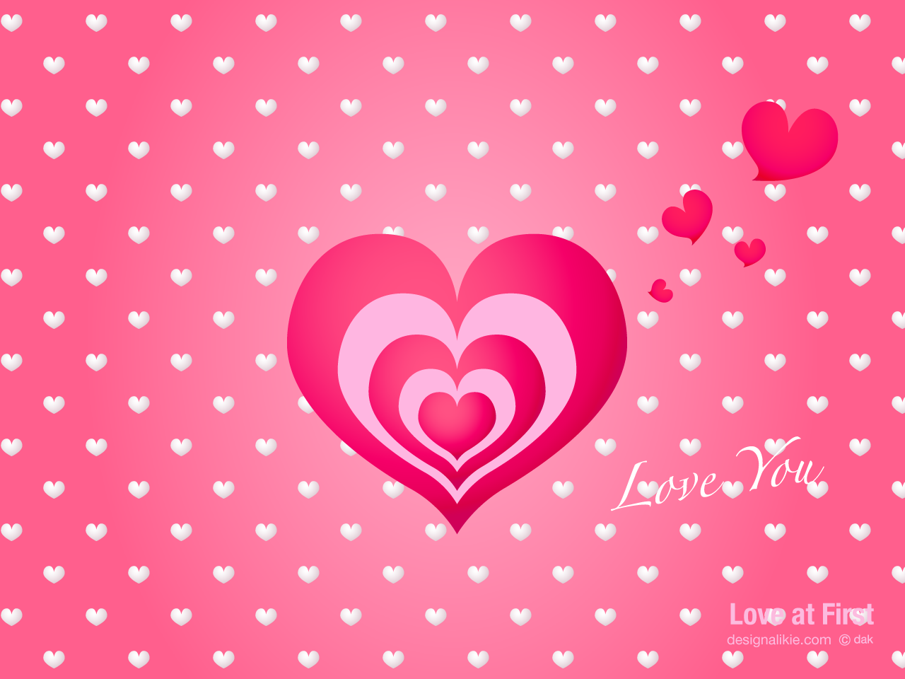 Free Download Cute Heart Mark Wallpaper Desktop Wallpaper