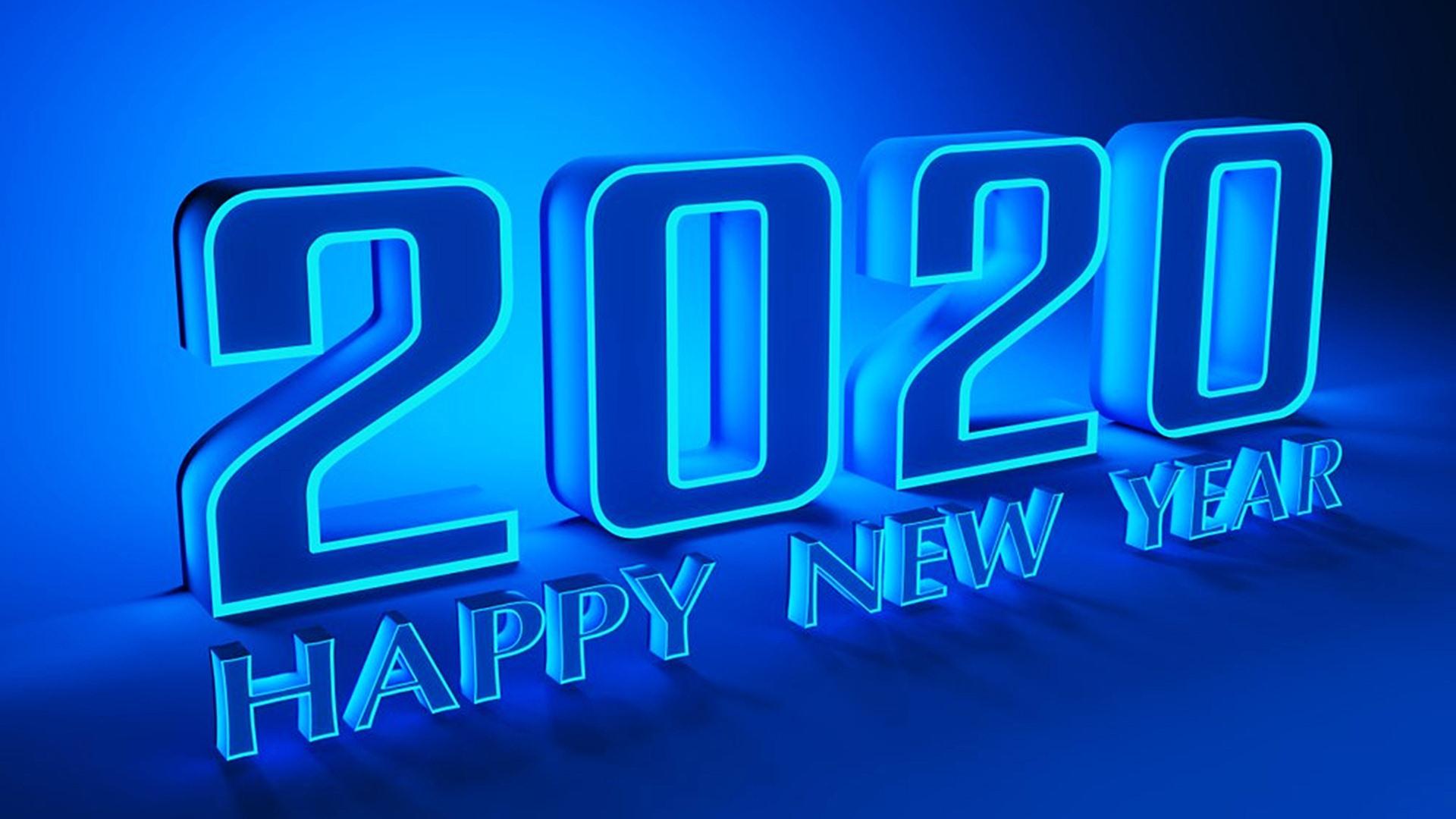 Happy New Year 2020 Desktop Wallpaper 45546   Baltana 1920x1080