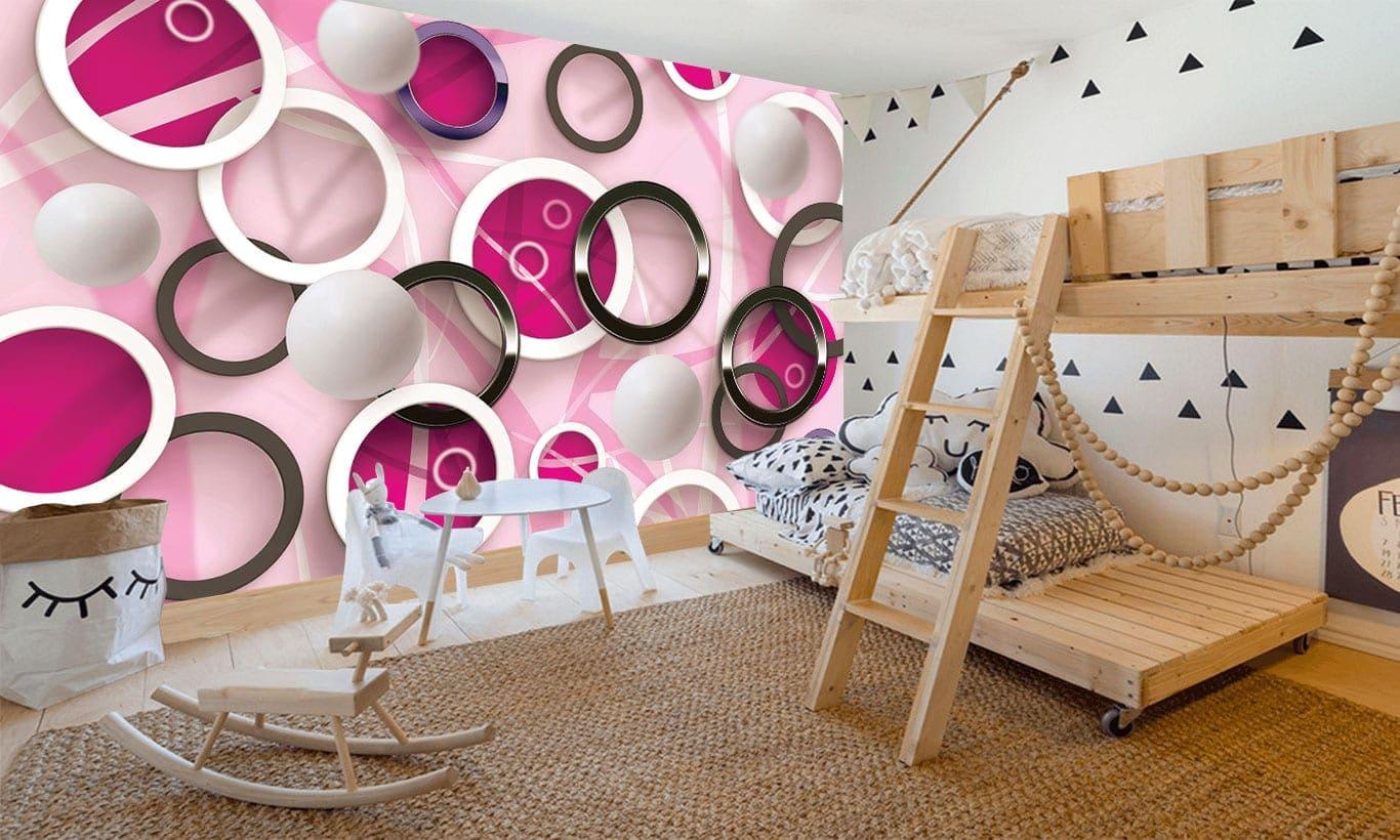 3D Wallpaper Mural Marmalade Art 1366x820