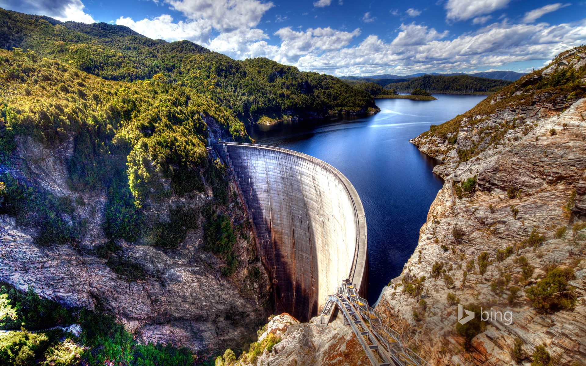 Gordon Dam Tasmania Australia HD wallpaper 1920x1200