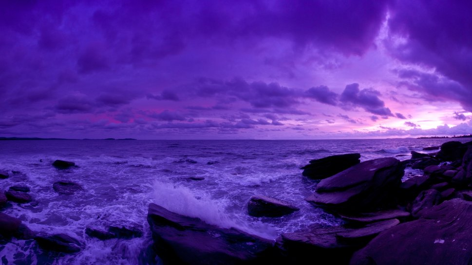 glorious purple sunset wallpaper - ForWallpaper.com