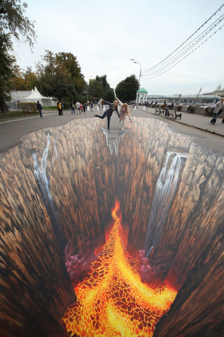 street Paintings 3d People Tribute To Elements Wallpapers HD 748x1123