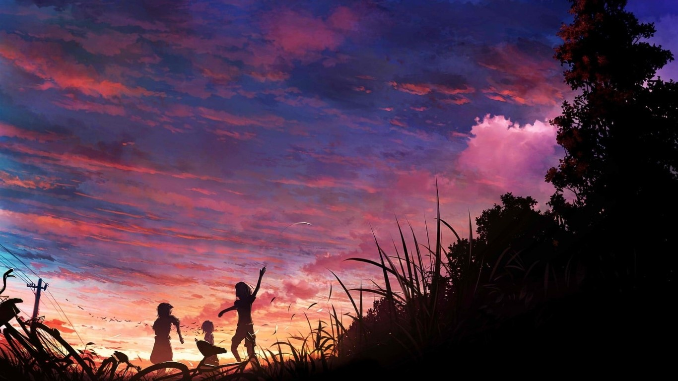 anime Sky Wallpapers HD Desktop and Mobile Backgrounds 1366x768
