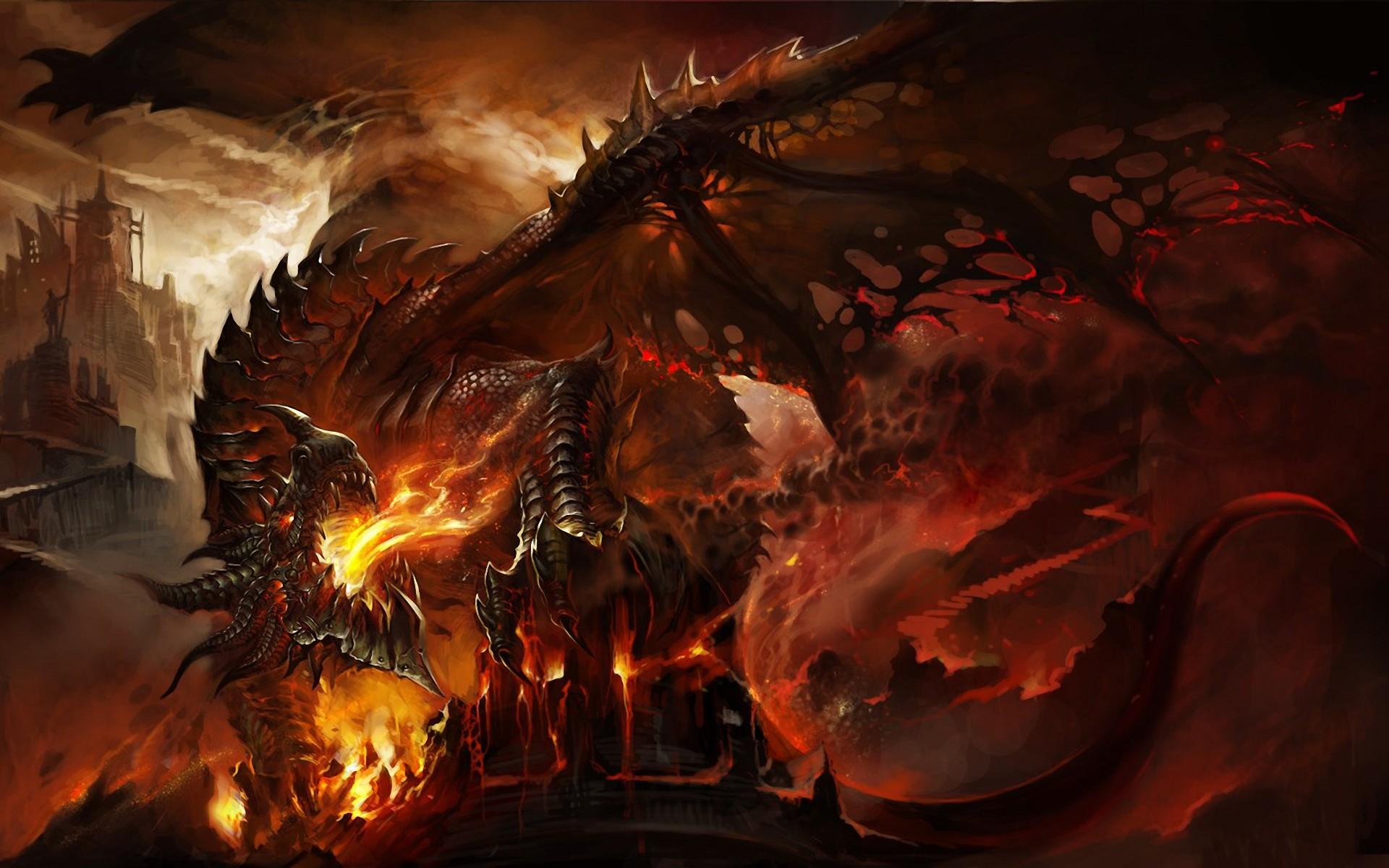 Abstract Dragons Wallpaper 1920x1200 Fire Fantasy