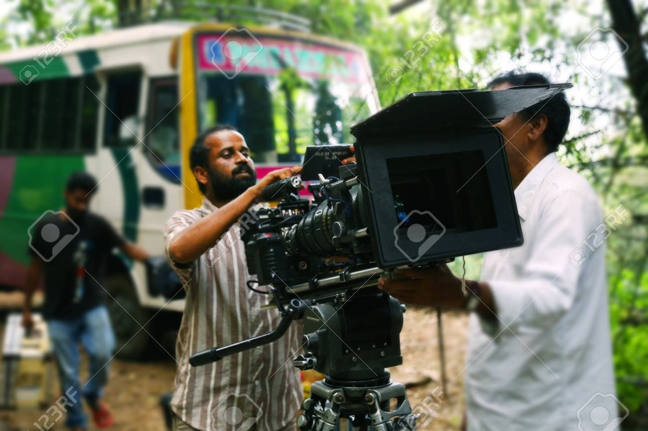 Video Camera Operator On Nature Background Film Shooting Spot 1300x866