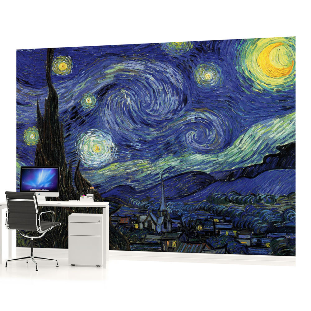 Free Download Van Gogh The Starry Night Art Photo Wallpaper Wall