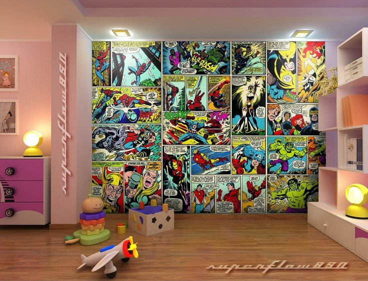 40+] Marvel Wallpaper Bedroom on WallpaperSafari