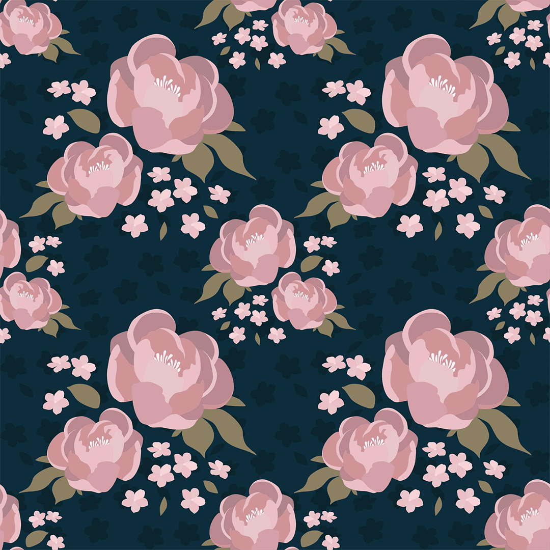 Free Download Brooklyn Navy Floral Wallpaper Project Nursery