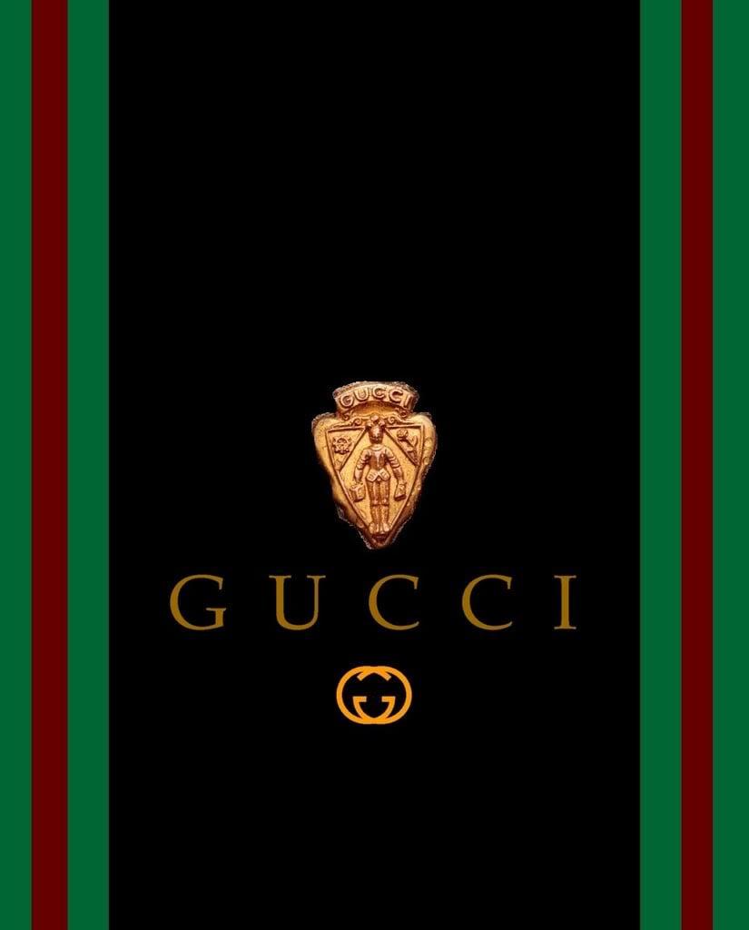 Gucci Black Gold Wallpaper Background Theme Desktop 825x1024