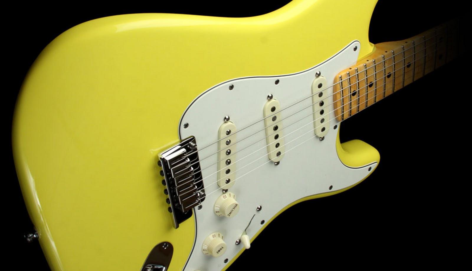 Guitar Wallpaper   Yellow Fender Stratocaster Electric Guitar   Body 1600x919
