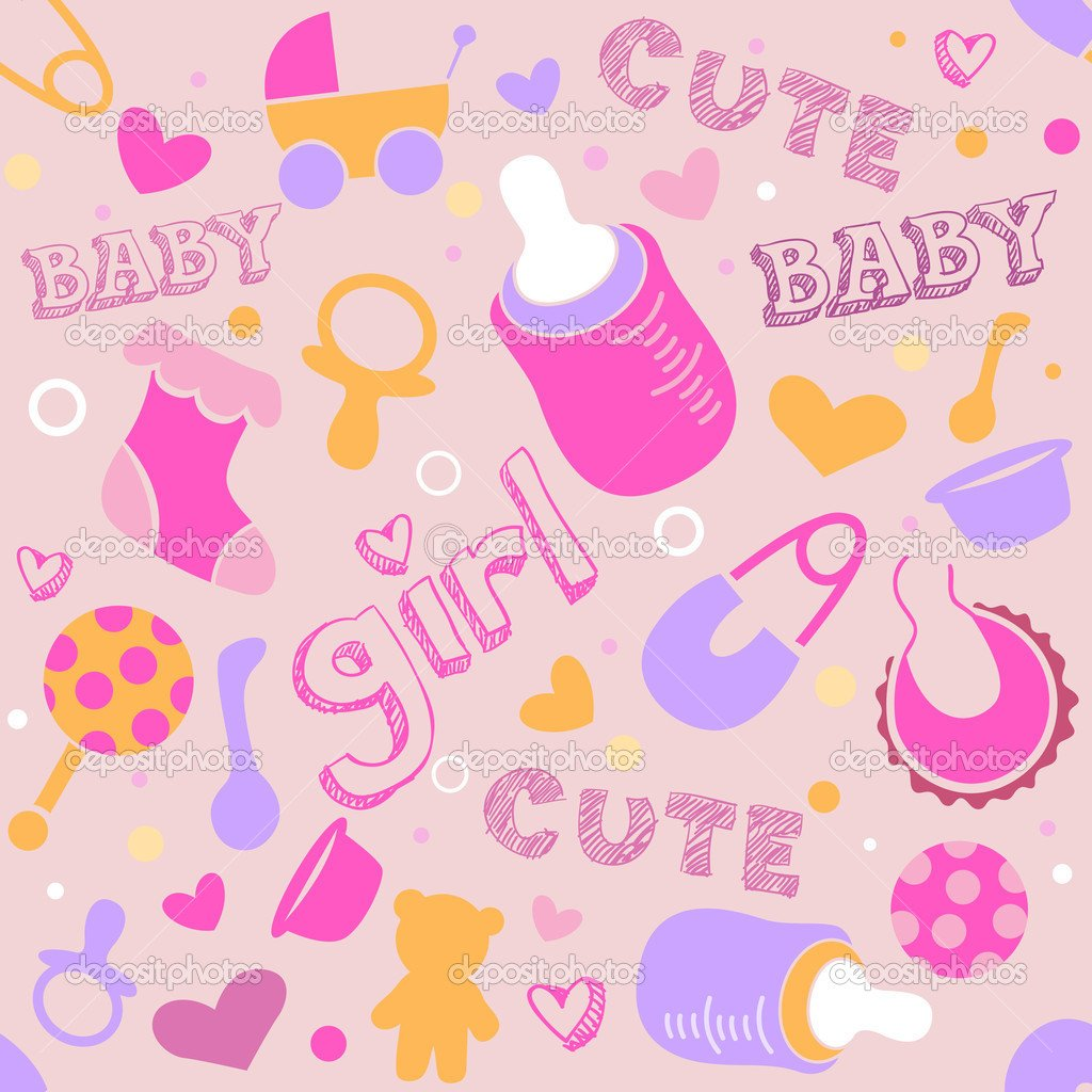 Baby girl wallpaper background wallpapersafari - Baby background ...