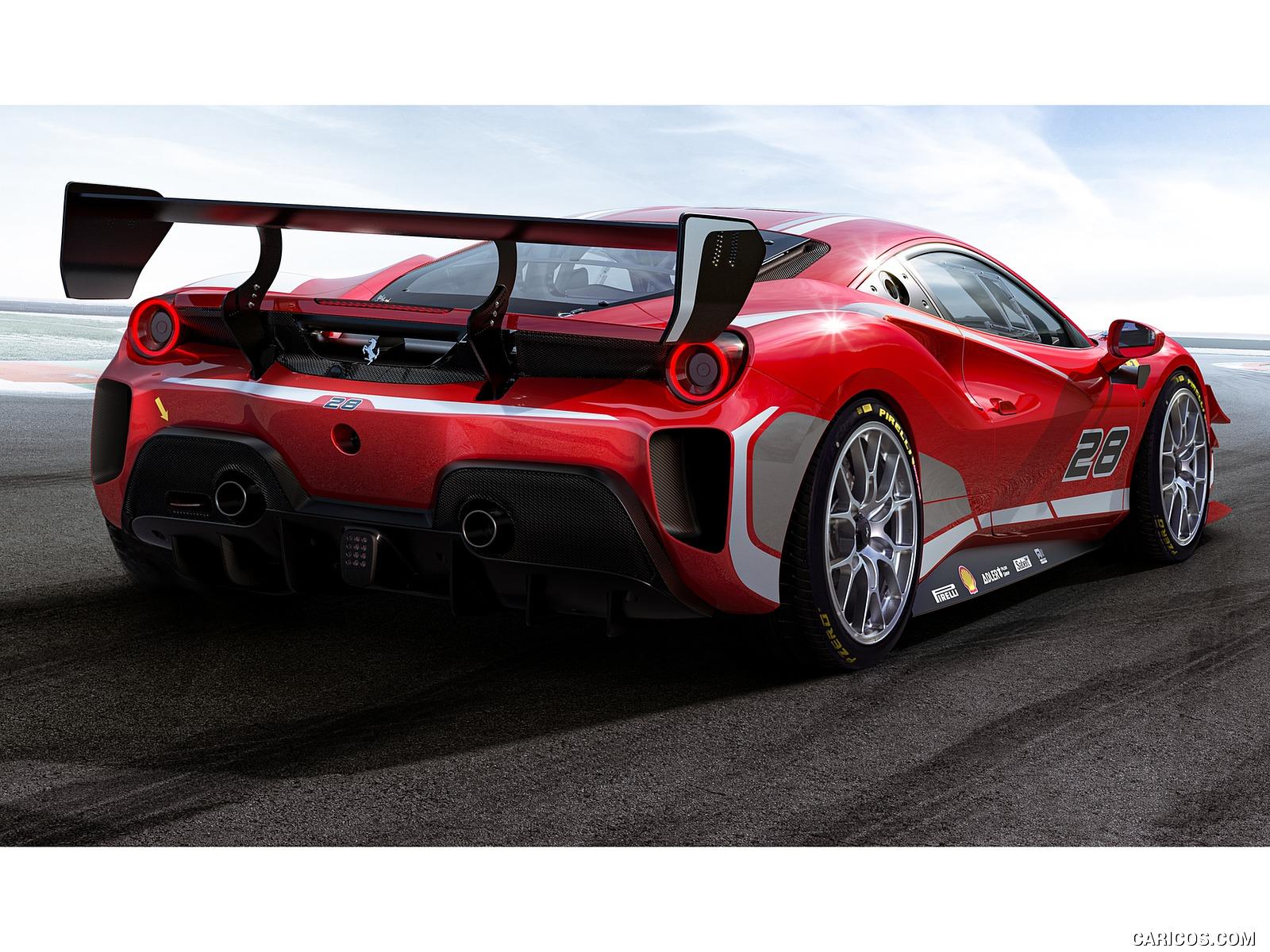 2020 Ferrari 488 Challenge Evo   Rear Three Quarter HD Wallpaper 2 1600x1200