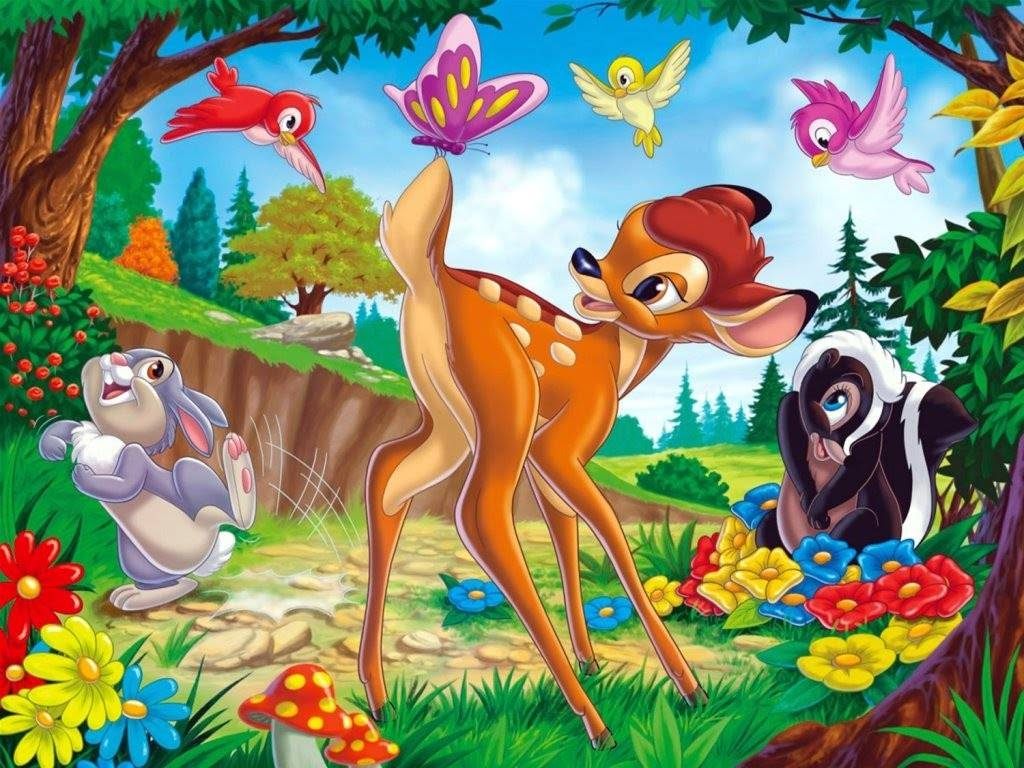 Cute Bambi Wallpaper   Disney Wallpaper 1024x768
