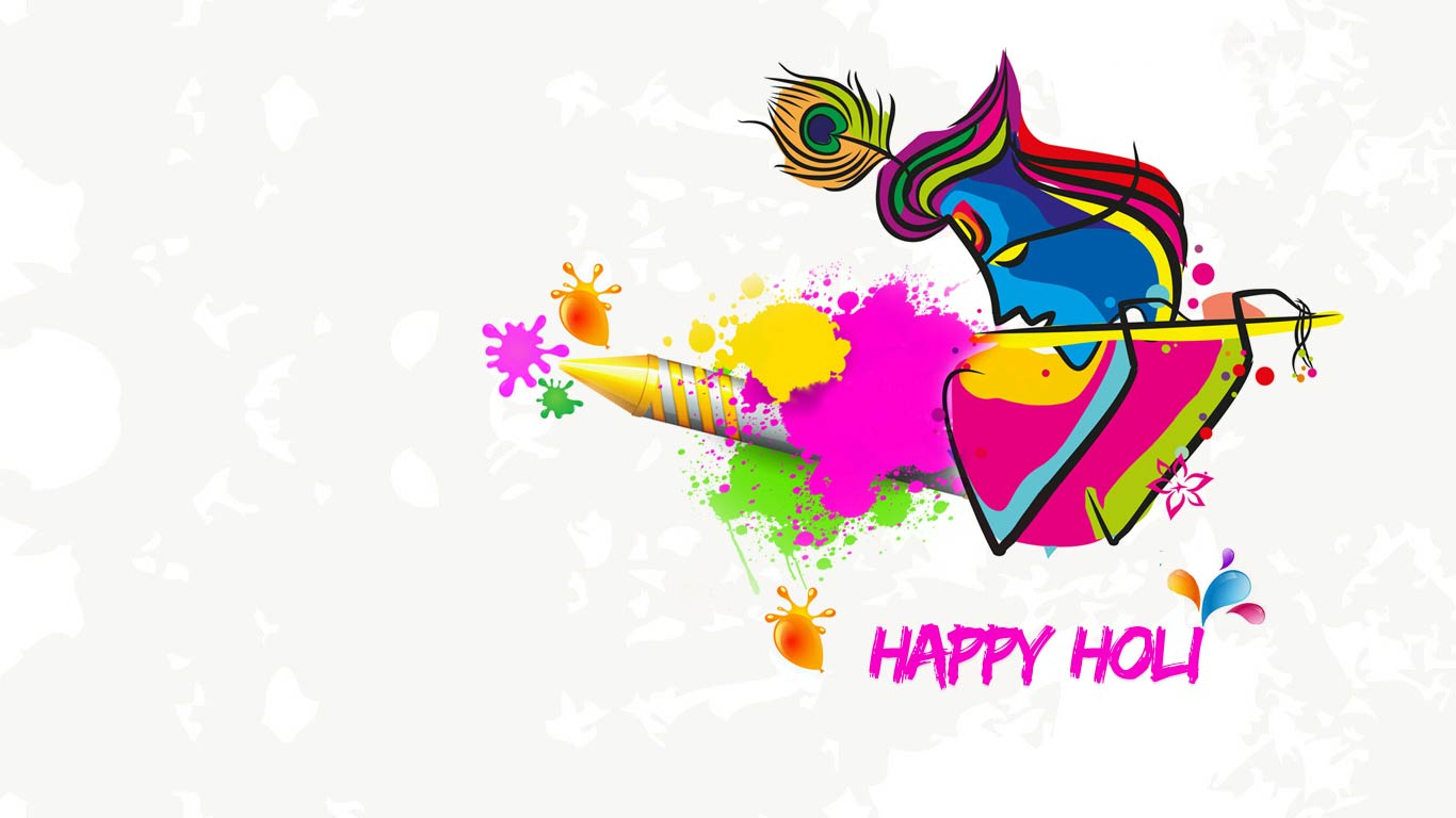 Latest Holi Wallpapers 2021   Happy Holi HD Wallpaper Download 1366x768