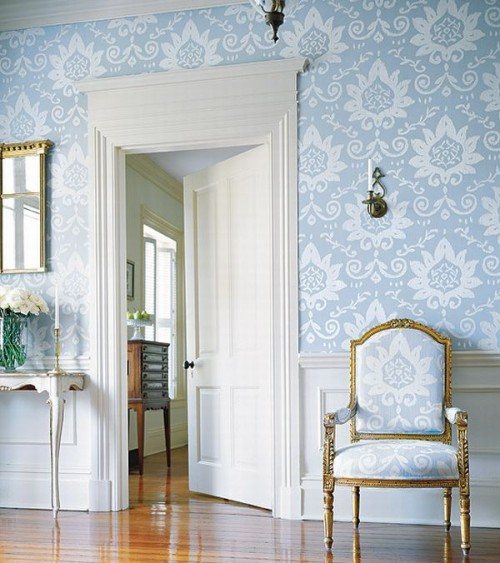 Wallpaper and Country French Style Inspiring Interiors 500x563