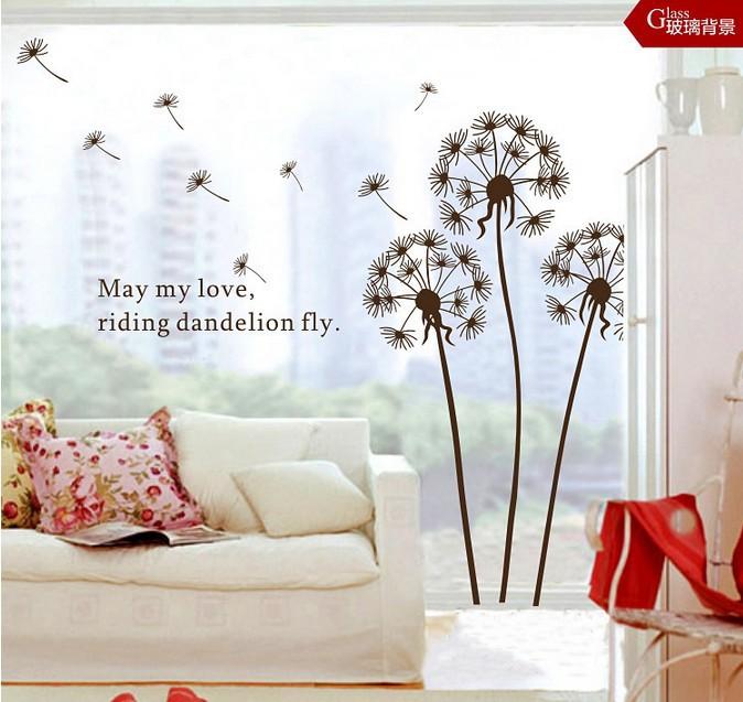 Border Dandelion Stick Decals 60 40cm dandelion wallpaper pvc 3djpg 674x637