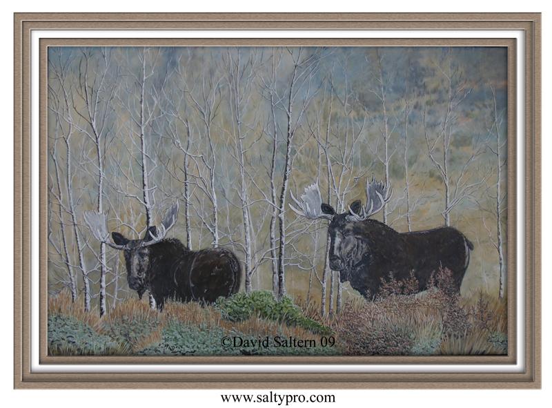 moose wallpaper Moose oil painting 800x591