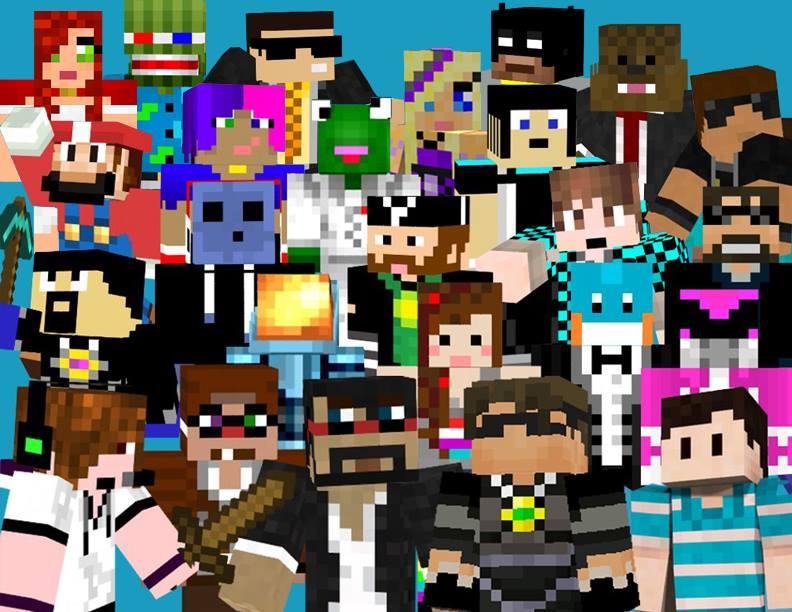 Minecraft Skin Youtubers Wallpapers WallpaperSafari - Skin de youtuber para minecraft