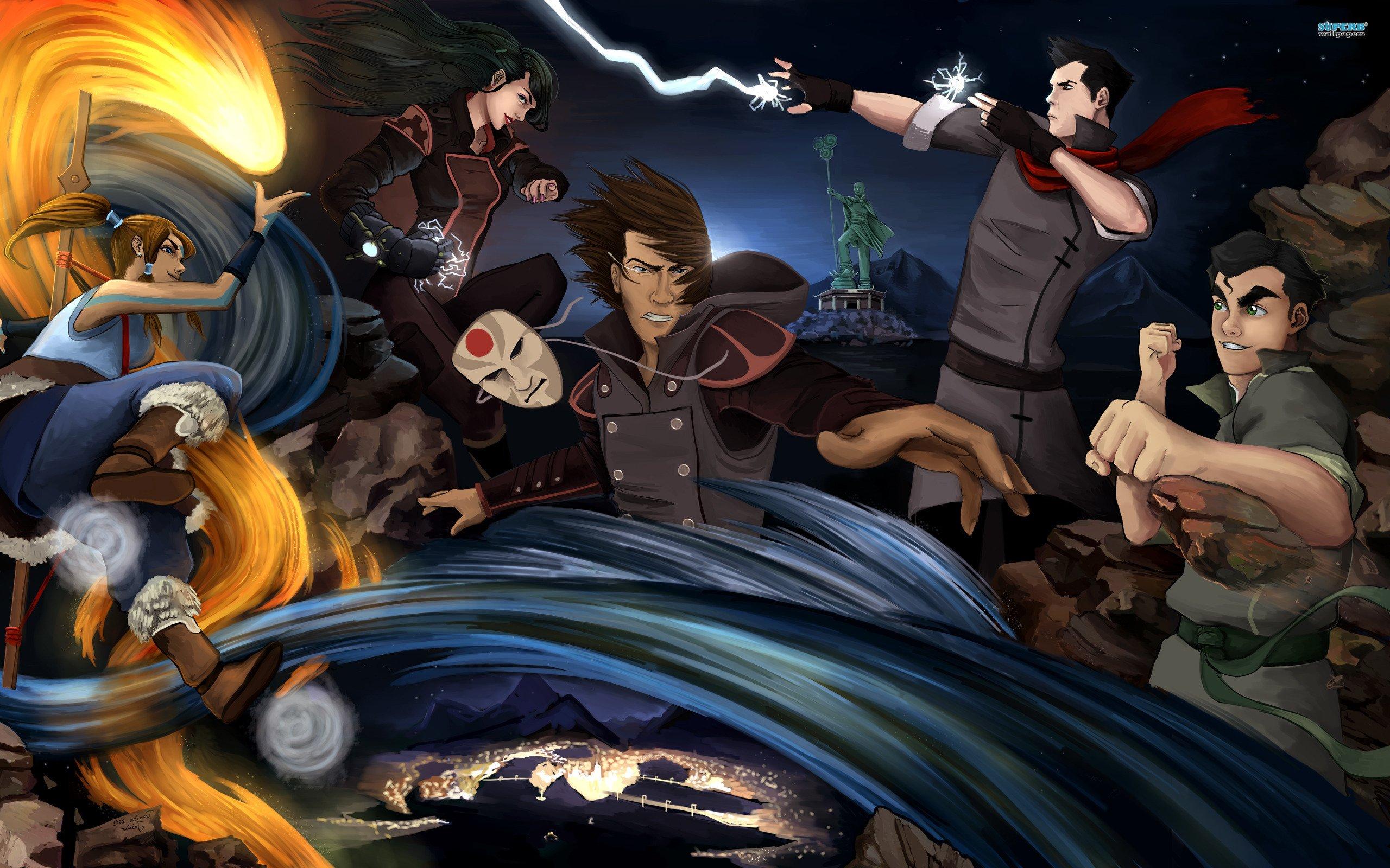 Avatar The Legend Of Korra Characters Wallpaper HD 2560x1600