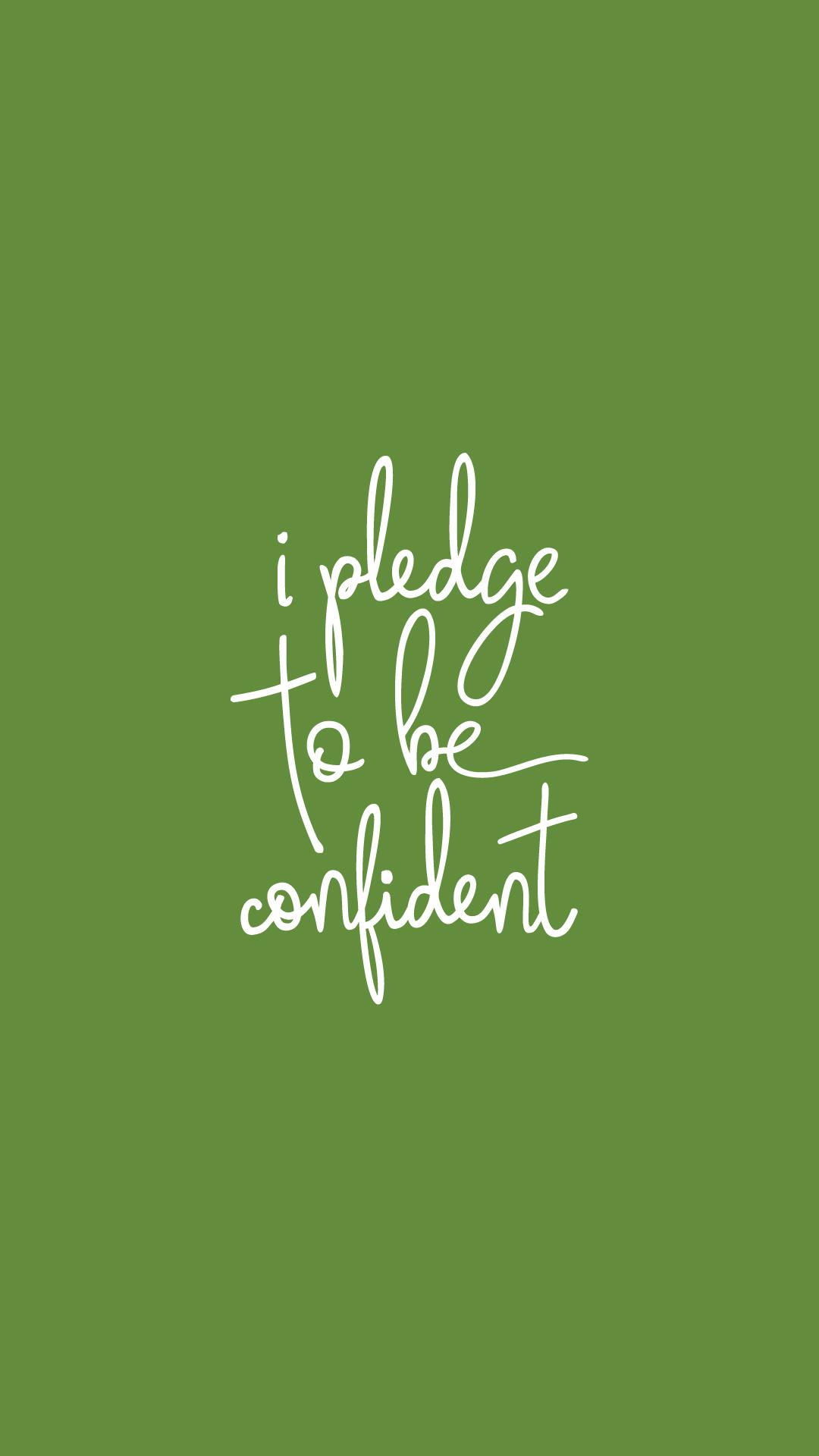 I pledge to be confident Kappa Delta Instagram Story background 1080x1920