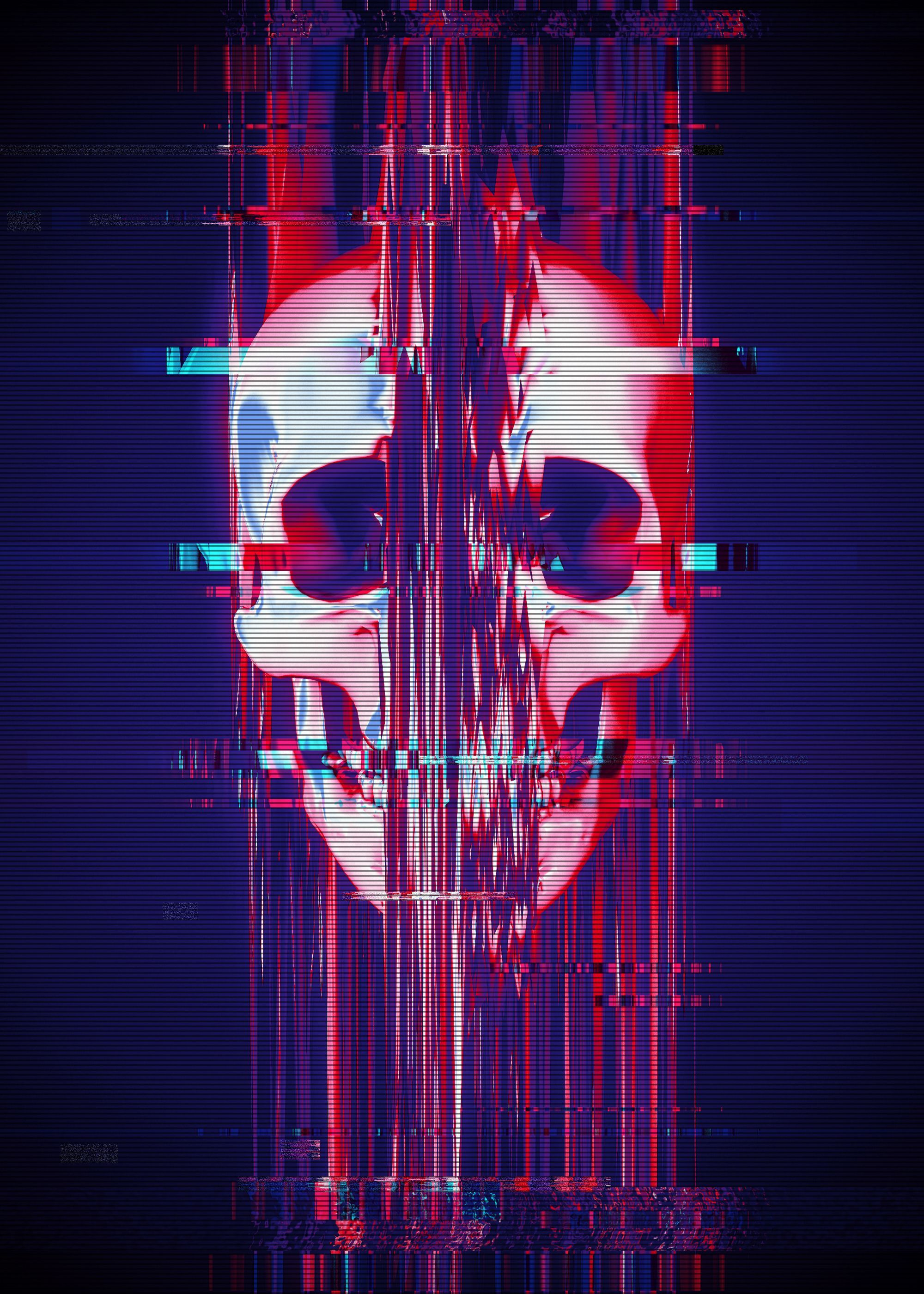 Glitch Skull Wallpapers   Top Glitch Skull Backgrounds 2000x2800