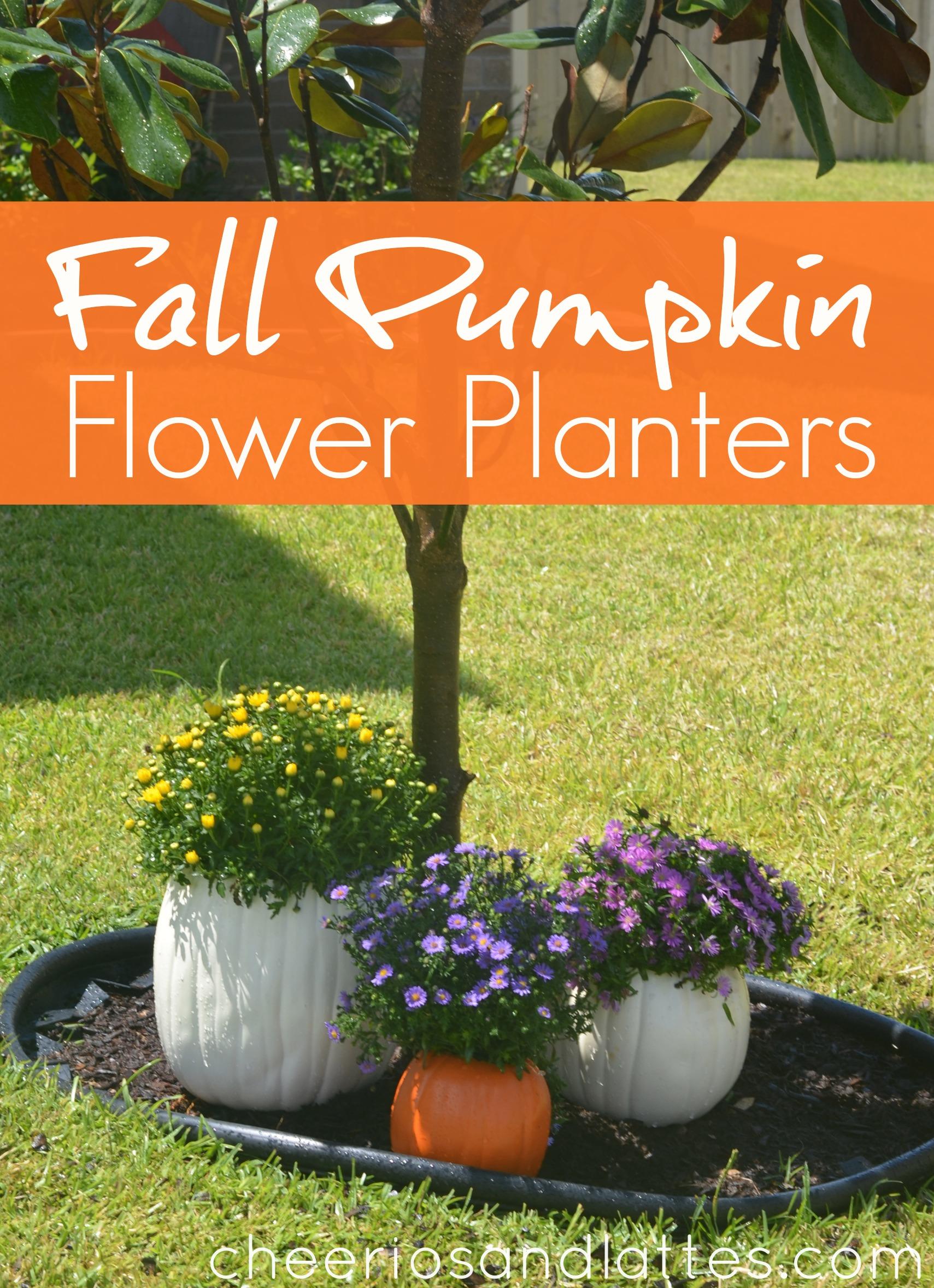Fall Pumpkin Flower Planters falldecorations pumpkins pumpkinideas 1709x2356