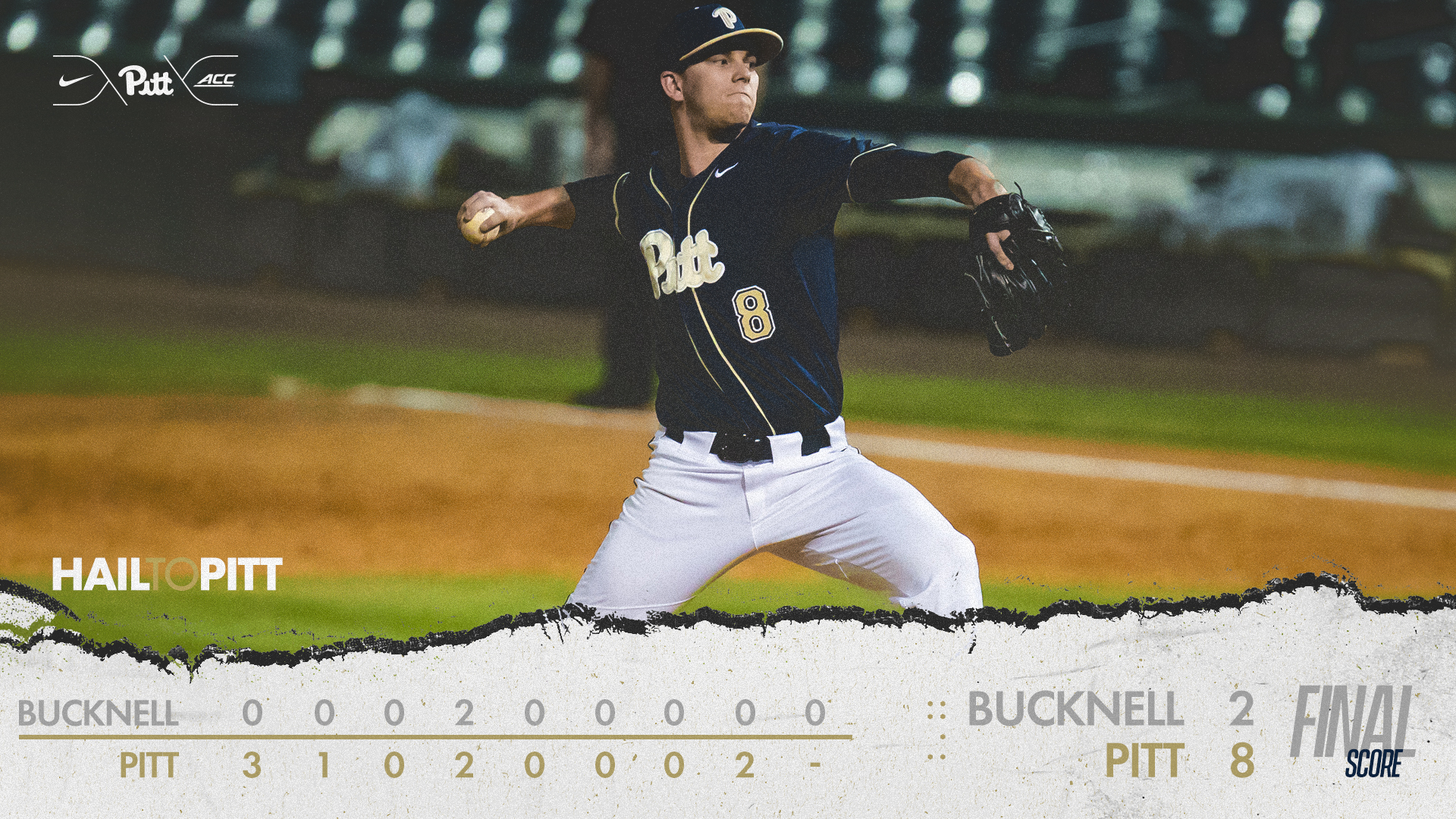 Offense Comes Alive in 8 2 Victory over Bucknell   Pitt Panthers H2P 1920x1080