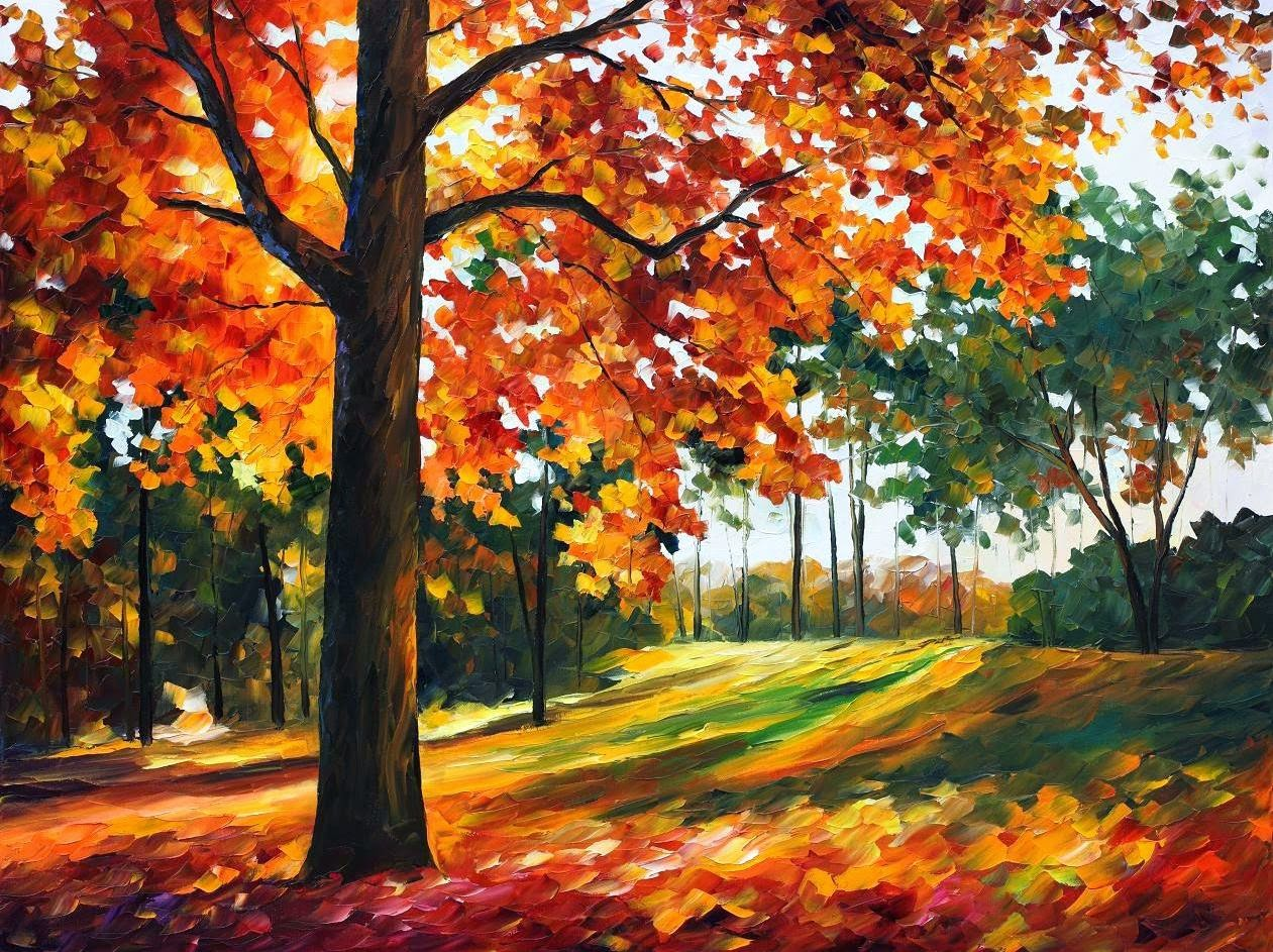 PAINTING] Autumn Paintings by Leonid Afremov   ART FOR YOUR WALLPAPER 1261x943