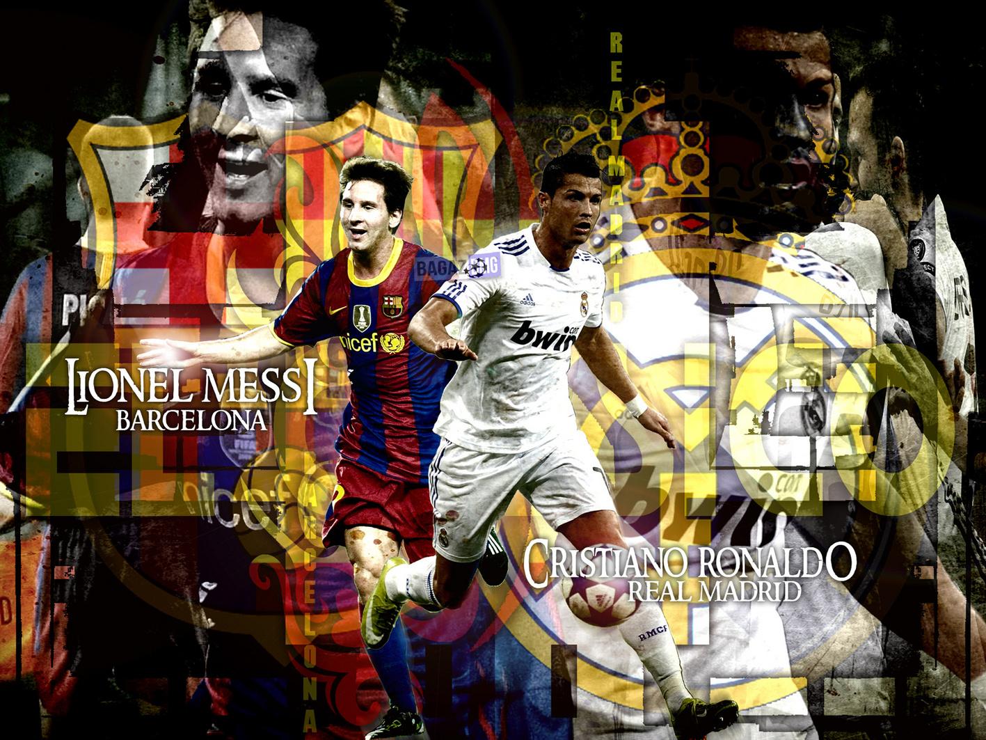 Cristiano Ronaldo vs Lionel Messi Wallpapers 2012 2013 1417x1063